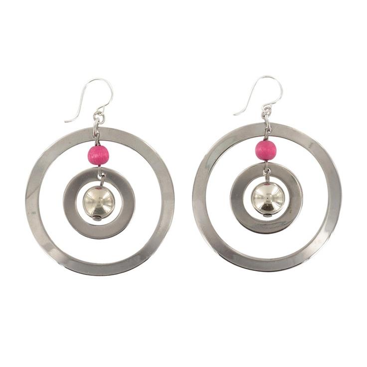 Aarikka - Earrings : Lysti earrings, pink