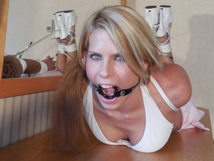 Ring gagged masked slut in black pvc brutally deepthroated 10