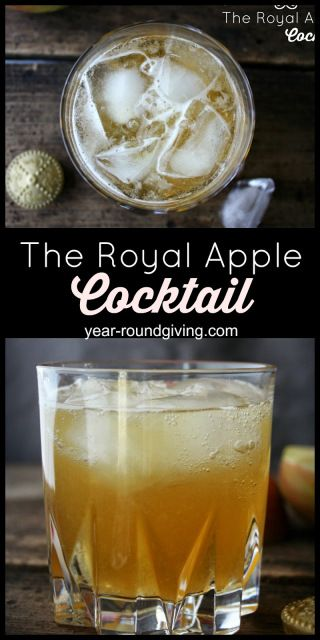 The Royal Apple Cocktail featuring Crown Royal Apple.