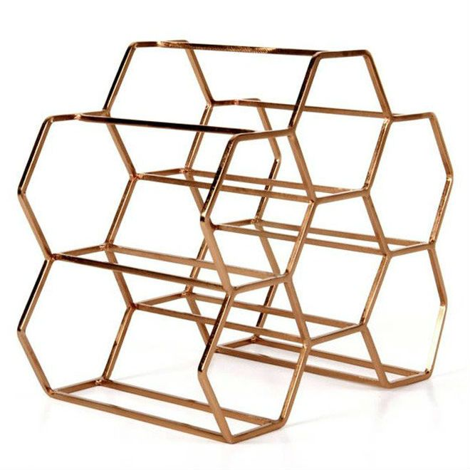 Pico 6 Stackable Wine Rack - Copper (26 x 30cm). Resembling a honeycomb in its design, this stylish way to store your wine is also perfect if you like the copper trend!