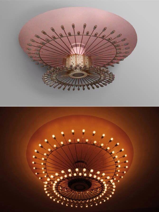 Gorgeous pink light fixture!!