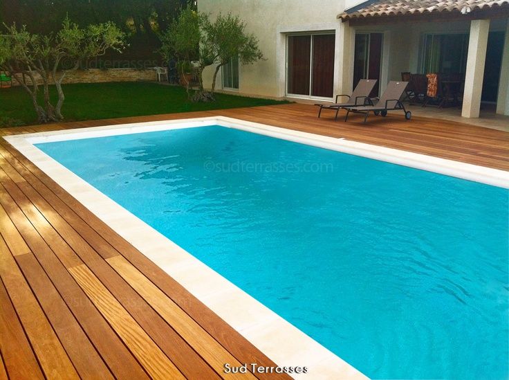 17 Best ideas about Margelle De Piscine on Pinterest Piscine country, Bord infini de piscine  # Terrasse Bois Pour Piscine