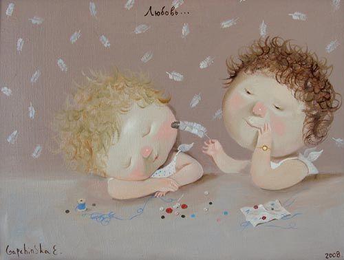 Cute paintings by the Ukrainian artist Evgenia Gapchinska