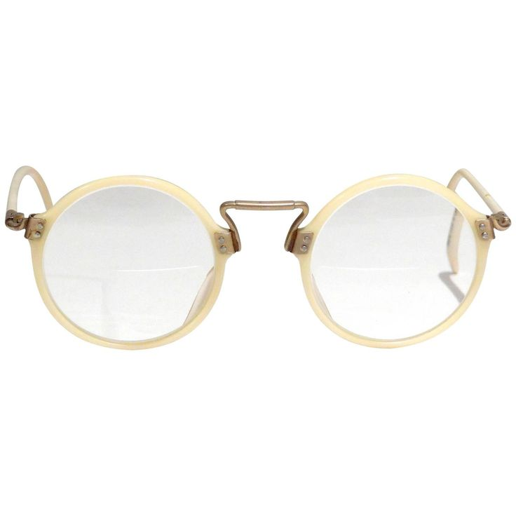 1990s Jean Paul Gaultier Round Frame Glasses  | From a collection of rare vintage sunglasses at https://www.1stdibs.com/fashion/accessories/sunglasses/