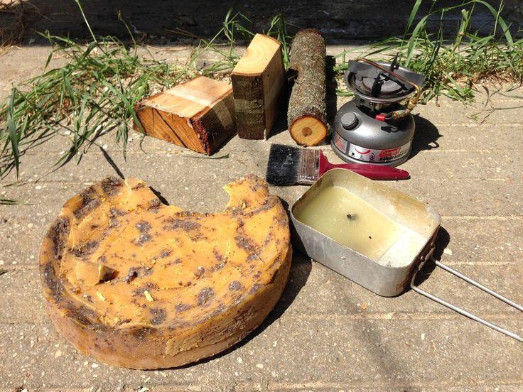 Bees wax wood sealing