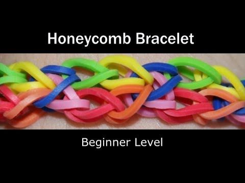 ▶ Rainbow Loom® Honeycomb Bracelet - YouTube