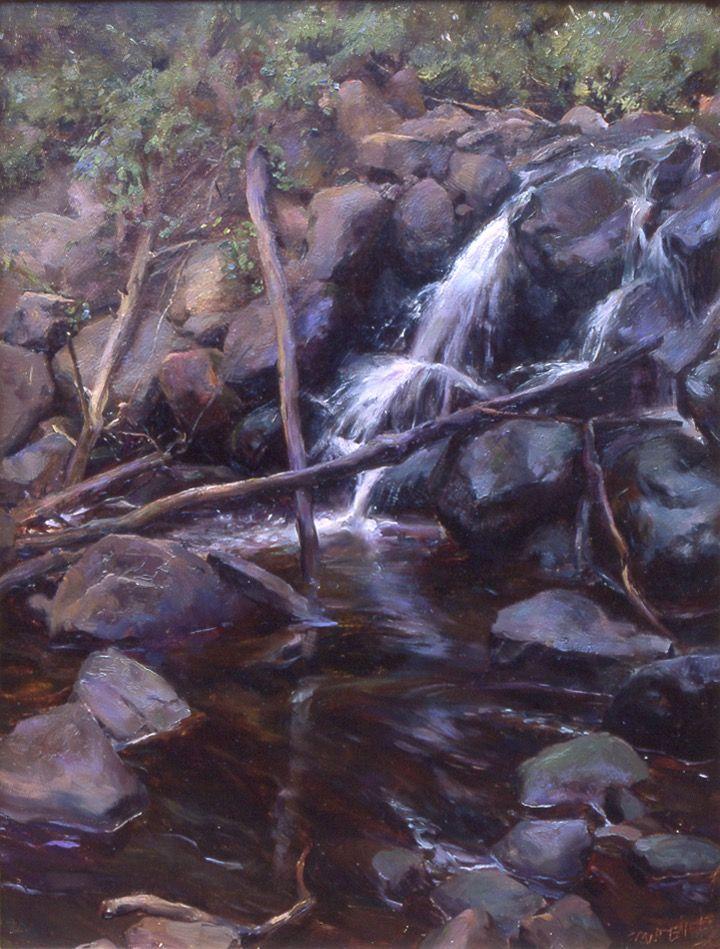 Clove lake waterfall artist o rose frantzen for Waterfall environment