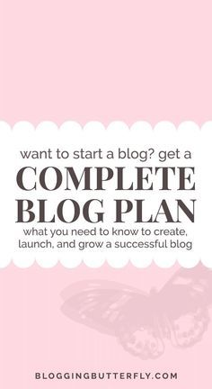A step-by-step plan for creating, launching, and growing your blog. Join the FREE Successful Blogging for Beginners e-course and create a successful blog. Read this and more blogging tips to help you start a blog: https://bloggingbutterfly.com/how-to-crea