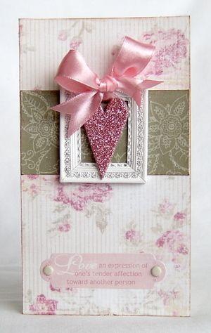 Stunning Framed Heart Card...