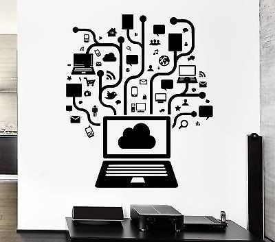 wall decal computer online social network gamer internet teen pc vinyl ig2558