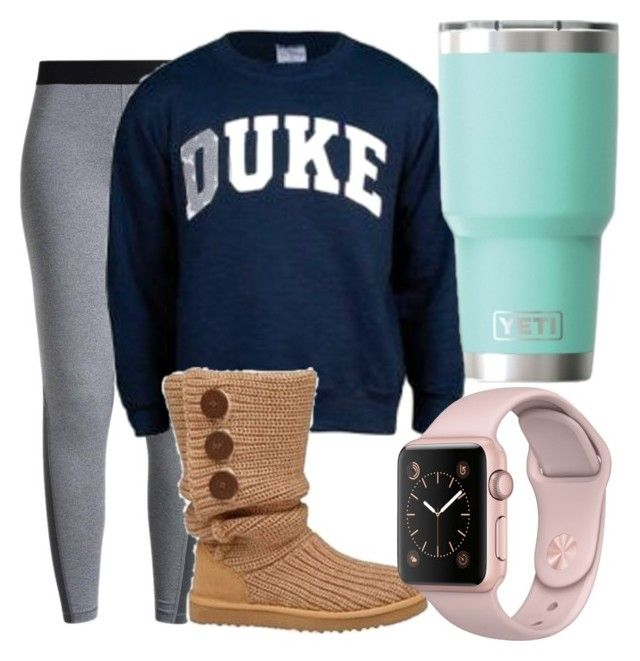 """""""Untitled #602"""" by pinktasticey ❤ liked on Polyvore featuring NIKE and UGG Australia"""