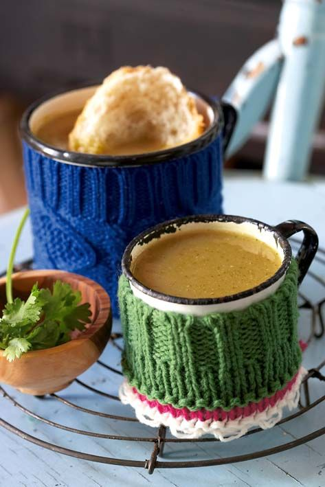 Moroccan spiced sweet potato soup