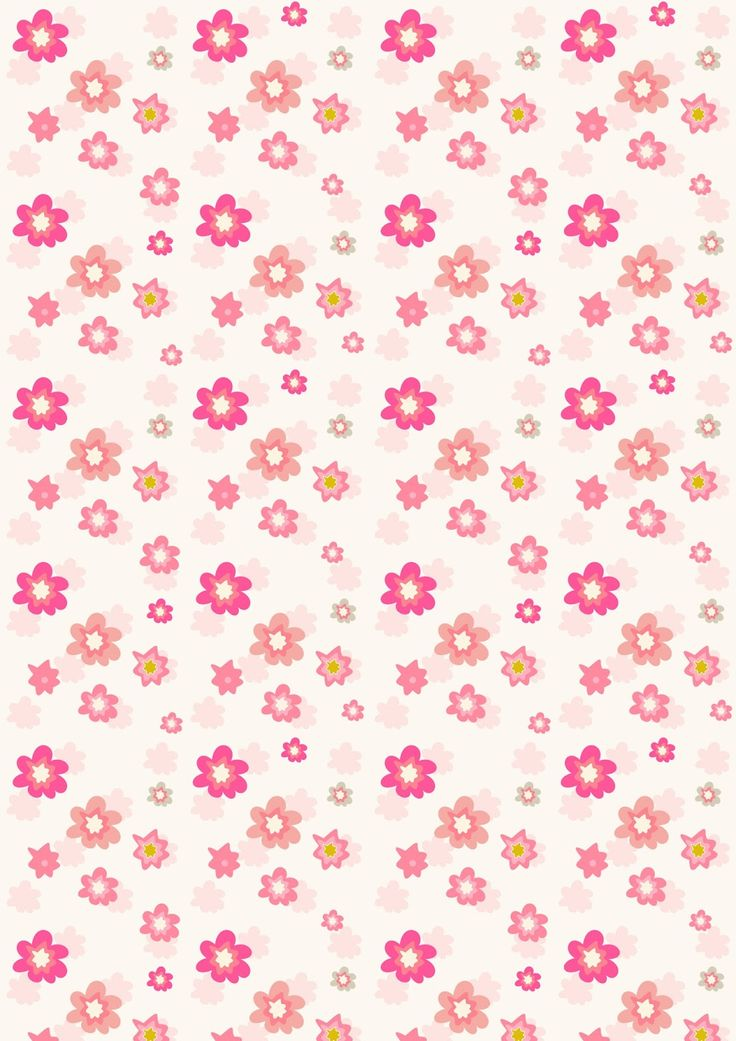 free digital floral scrapbooking paper in pink