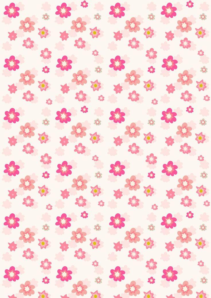 Barbie Girl Wallpapers Free Download Free Digital Floral Scrapbooking Paper In Pink