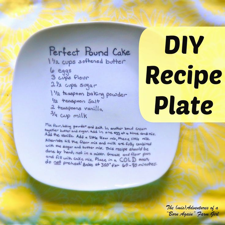 """DIY Recipe Plate. Someone else said.."""" I know some of you are about to say, """"wait a minute, I have seen this and it doesn't work. The marker washes off!"""" Yes, you have and that is because those folks didn't use the right temperature and technique to make the marker set properly."""""""