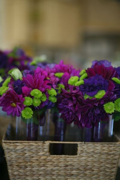 Purple wedding flowers  www.allisonstahl.com