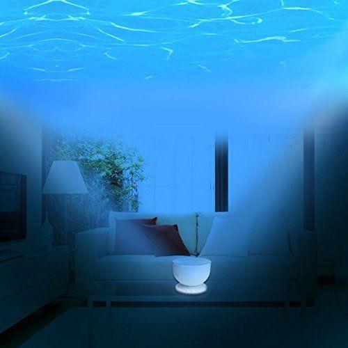 Liwuyou Blue Sea Ocean Daren Waves Projector Lamp With