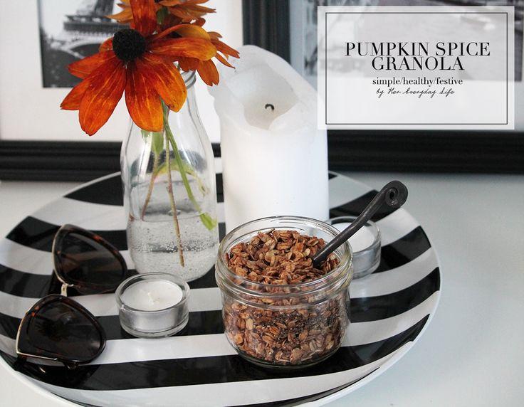 Pumpkin Spice Granola  #recipe #vegan #granola