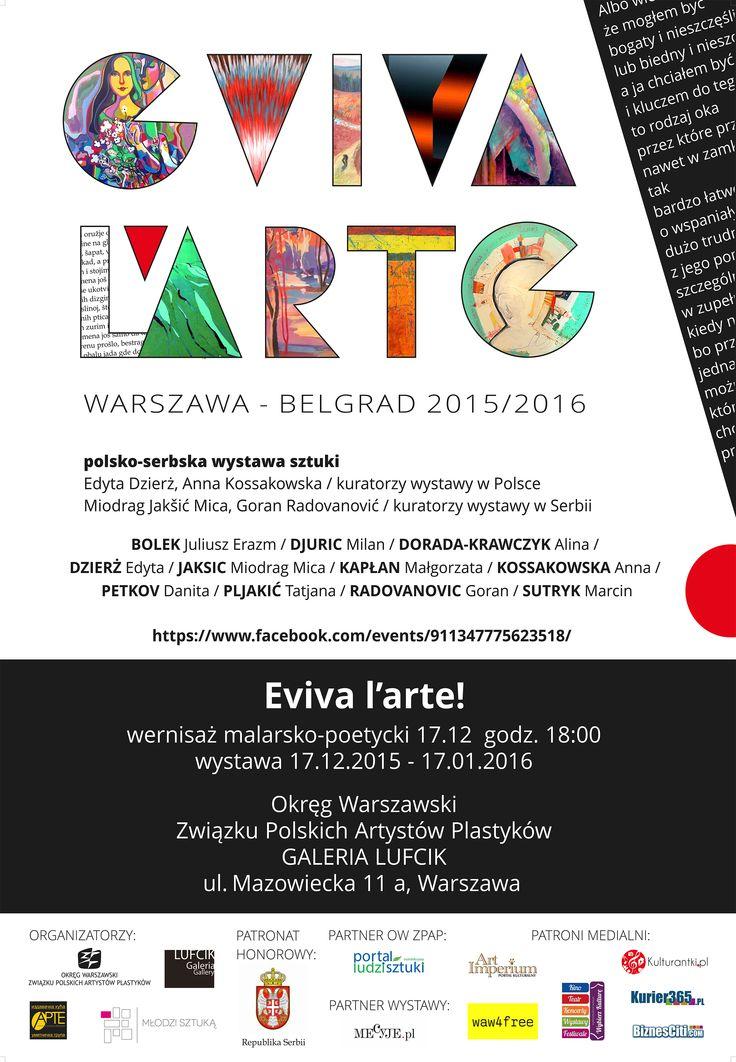 EVIVA L'ARTE! - NIECH ŻYJE SZTUKA! WARSZAWA - BELGRAD 2015/2016