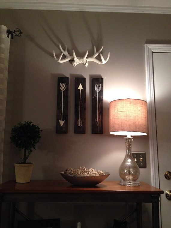 ANY COLOR or WHITE Antler Wall Mount // Rustic Wall by KINGFOUR