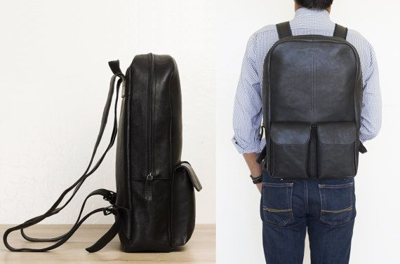 10% SALE Laptop backpack for men work backpack by TheLeatherExpert
