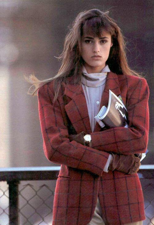 Yasmin Le Bon for Marie Claire Italy by Vanni Burkhart, 1987