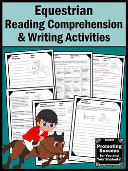 Summer Olympics Sports 2016 EQUESTRIAN Reading & Writing Activities: These worksheets work well for bell ringers, early finishers, as morning work or homework or as extra practice for ESL, special education, autism (ASD) and speech and language therapy. Student will read a nonfiction reading passage, answer comprehension questions and complete a creative writing activity. A blank writing paper is also included. An answer key and writing rubric are also provided.