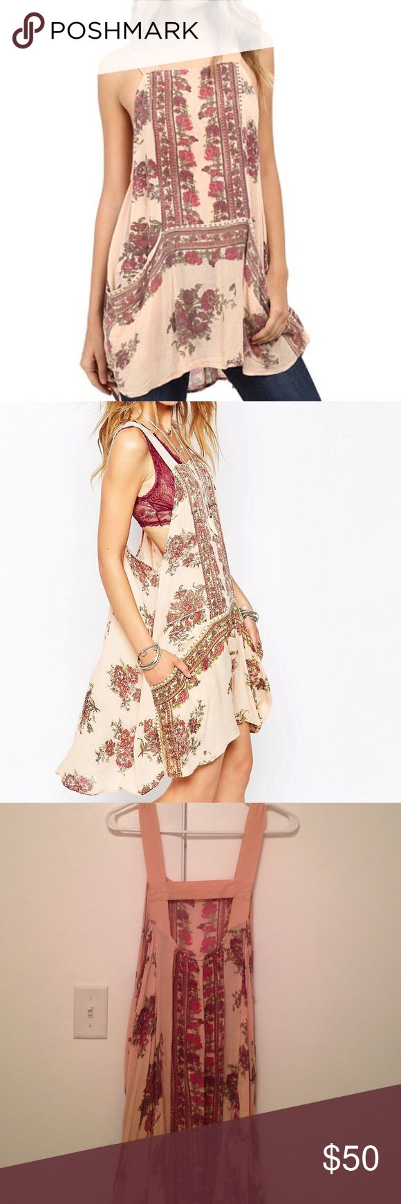 Free People Paradise Song Printed Tunic Sz L Free People paradise song printed tunic, only worn a couple of times. Love this paired with a bralette or a cardigan or sweater to wear into fall. Have to downsize my closet but I love this piece! Has a slightly oversized, flowy fit. Make me an offer💥 Free People Dresses Mini