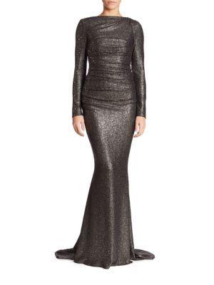TALBOT RUNHOF Glitter Jersey Gown. #talbotrunhof #cloth #gown