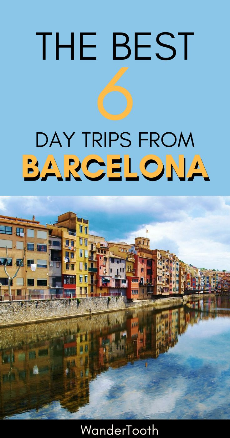 Barcelona is a great city, but if you've already been to the city, you definitely want to check out its Check out the best 6 day trips from Barcelona, Spain. These Barcelona day trips are absolutely worth it, and include Montserrat, Sitges, Catalonia wine country, and more. The post includes recommendations on how to do it on your own + tips for organized tours. | Barcelona day tours | What to do in Barcelona | Things to do in Barcelon | #Barcelona #Spain #DayTrips via @WanderTooth