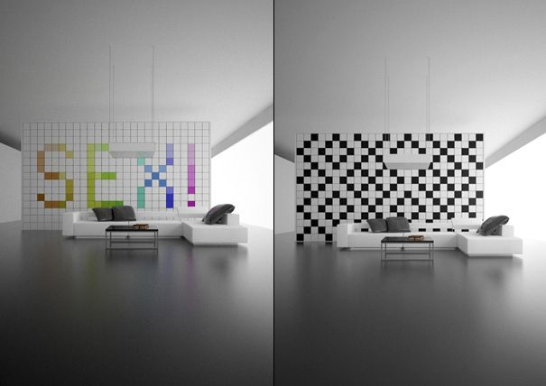 12. Changeable Pixelated Designs | 20 Ways To Make Your Walls Look Uniquely Amazing