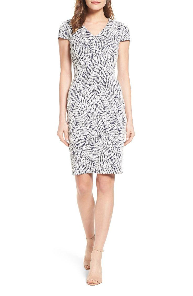 Main Image - MICHAEL Michael Kors Fern Jacquard Sheath Dress $135