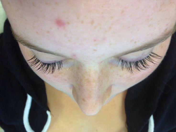 After Semi Permanent Eyelash Extensions