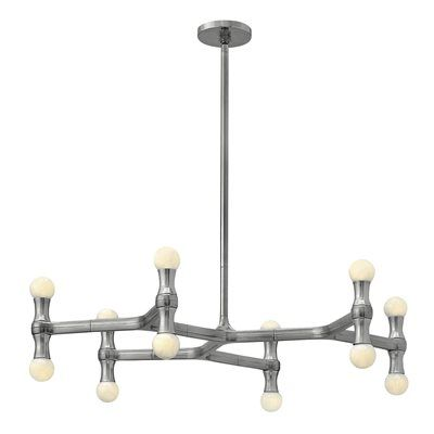 Fredrick Ramond FR41946PAL 12-Light Karma Small Chandelier | ATG Stores