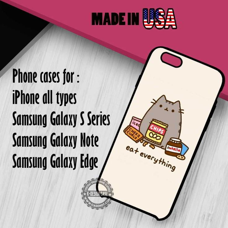 Pusheen The Cat iPhone 7 7  6s 6 SE Cases Samsung Galaxy S7 edge S6 S5  NOTE 7 5 4 3