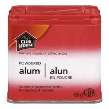 ALUM - ammonium aluminum sulfate or potassium aluminum sulfate..... for hide tanning