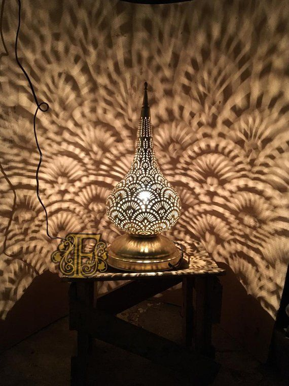 Moroccan table Lamp , standing copper