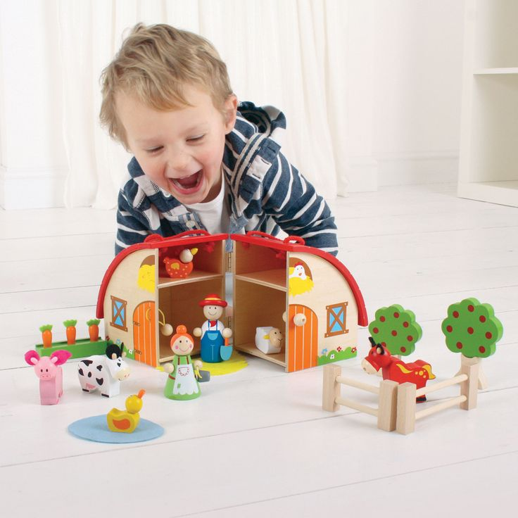 Countless hours of fun and creative play with special wooden toys!