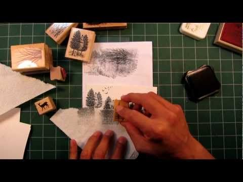 Stampscapes 101: Video 2. Seamless Scenes and Altering Stamp Usage - WOW! This video was amazing!