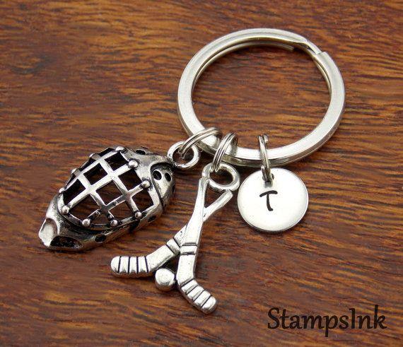 Hockey Gifts Key Ring Field Hockey Mask Keychain Ice by StampsINK