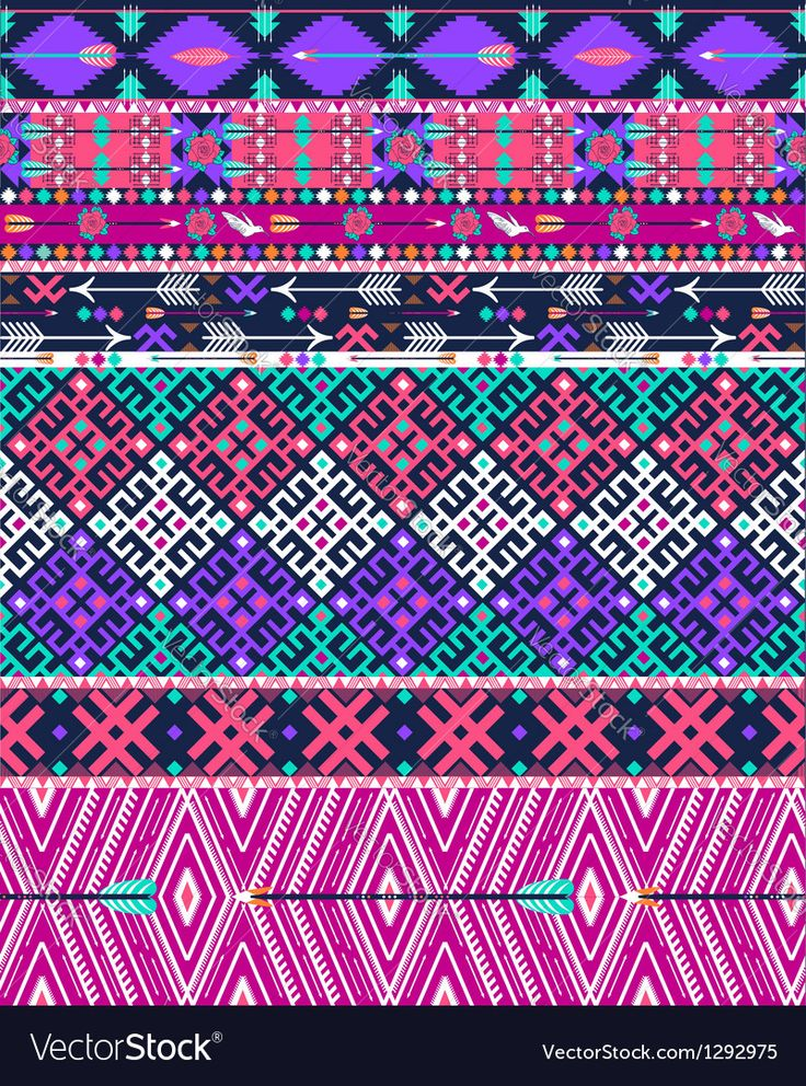 Chevron Wallpaper For Iphone 5 Tribal Seamless Aztec Pattern With Birds Vector Image By