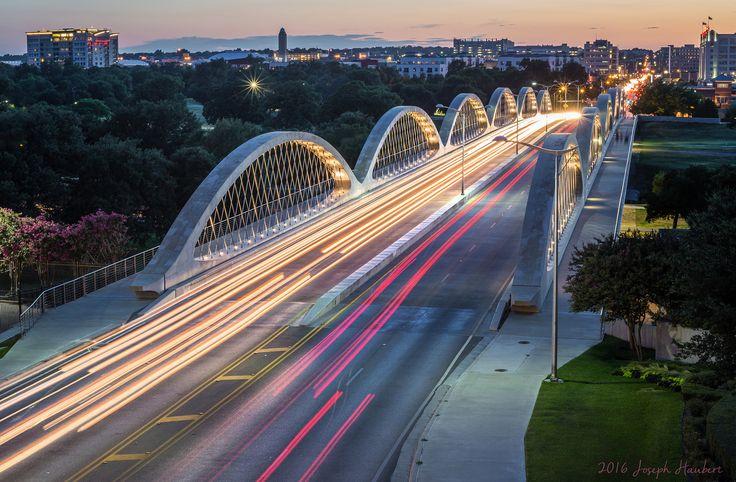 West 7th Bridge In Fort Worth At Sunset   2016 Joseph Haubert
