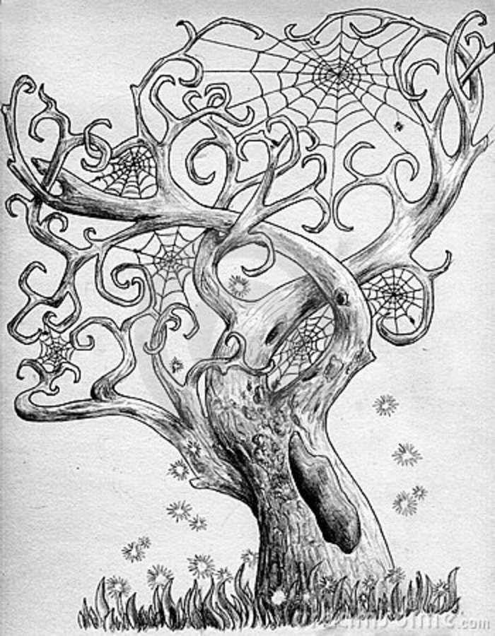 сказочное дерево рисунки карандашом площади схема коровника