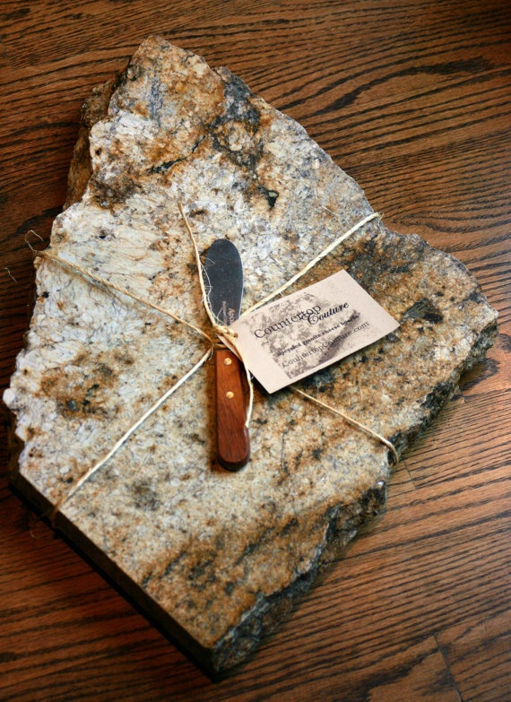 Beautiful Natural Granite Cheese Board by CountertopCouture, $65.00
