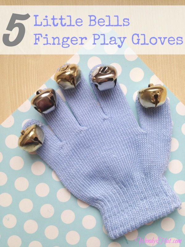 This DIY 5 Little Bells Finger Play Glove and rhyme are the perfect thing for any child!