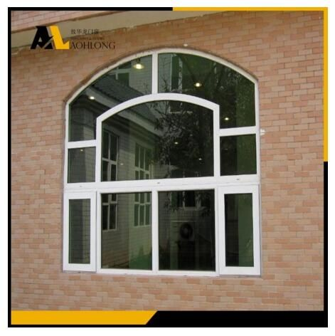 In an 'arch' or 'radius' window, the bottom half of the window is rectangular while the top is an arch or half-circle.This Single Glass Aluminum Fixed Picture Window with Round Arch is beautiful and useful.