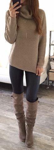 botas #fall #fashion / cuello alto tejer +