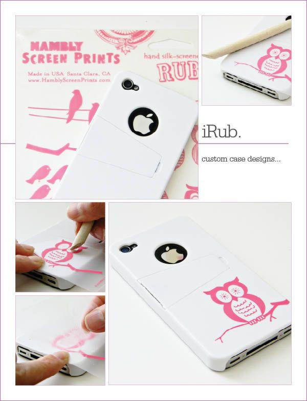 DIY iPhone case update. #scrapbookingsupplies #rubons #customphonecase  rub me down… « the owlchemist