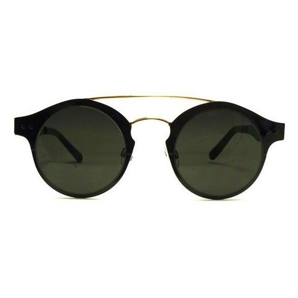 Spitfire CBX Black/Gold/Black Sunglasses (3,145 INR) ❤ liked on Polyvore featuring accessories, eyewear, sunglasses, black gold, metal-frame sunglasses, gold sunglasses, spitfire sunglasses, metal frame glasses and gold glasses