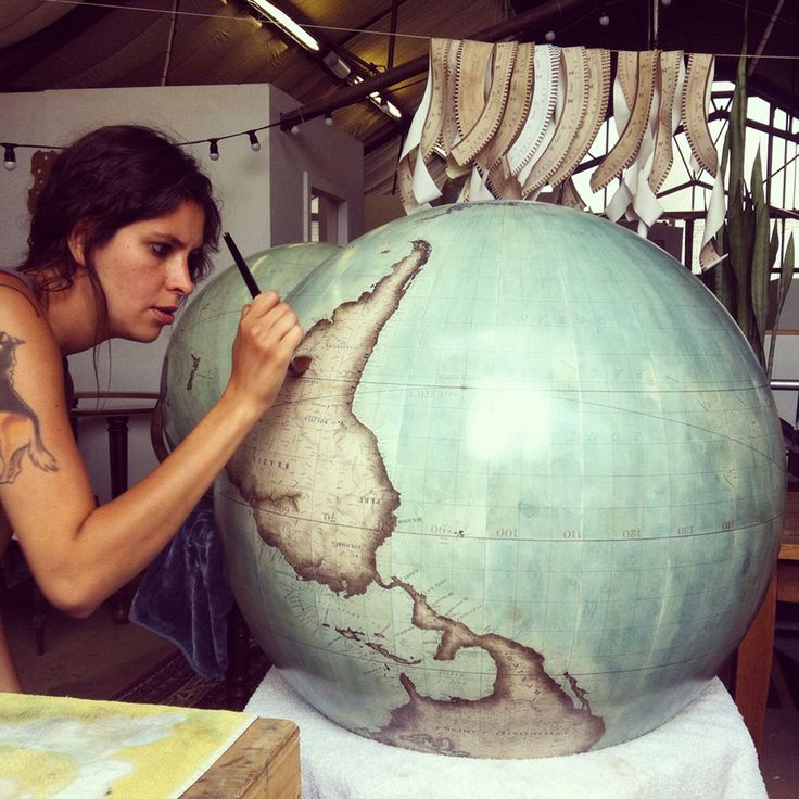 Handmade Classical Globes - one of two globemakers in the world